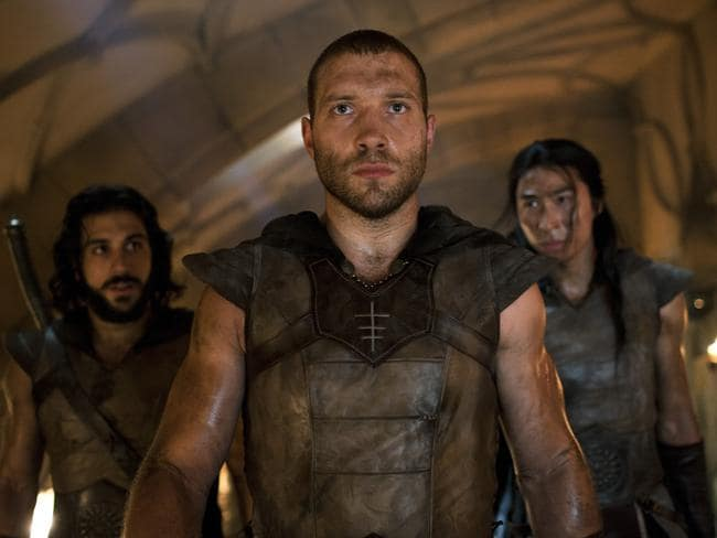 The right to bare arms ... Jai Courtney in a scene from film I, Frankenstein.