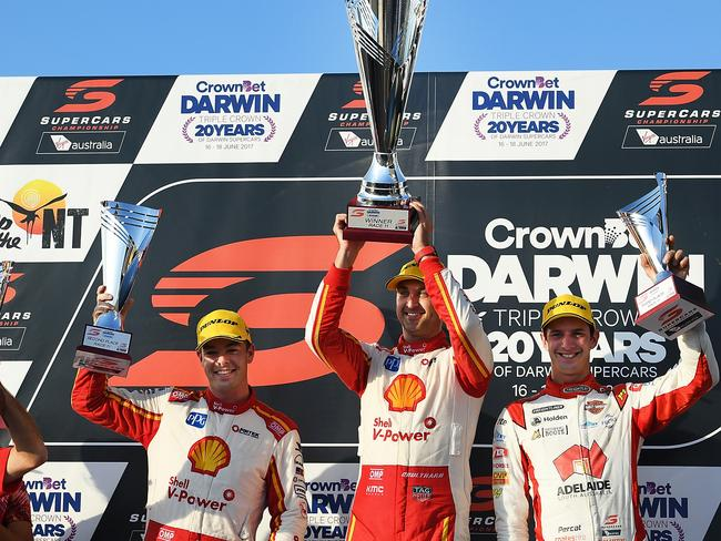 Scott McLaughlin, Fabian Coulthard and Nick Percat