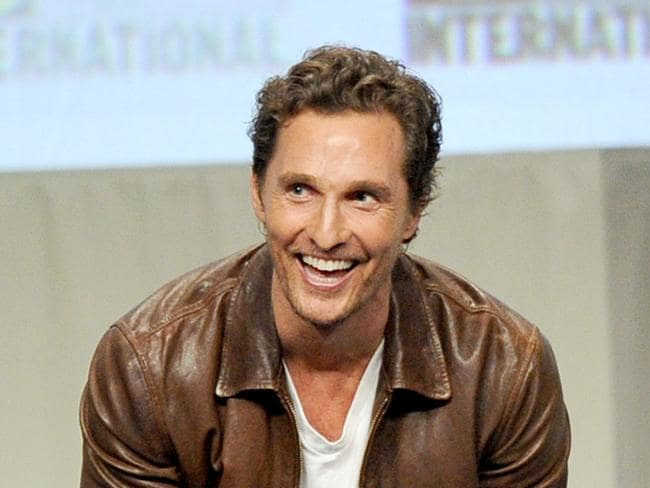 Same dimples ... Matthew McConaughey during Comic-Con International 2014 at the San Diego Convention Centre. Picture: Kevin Winter