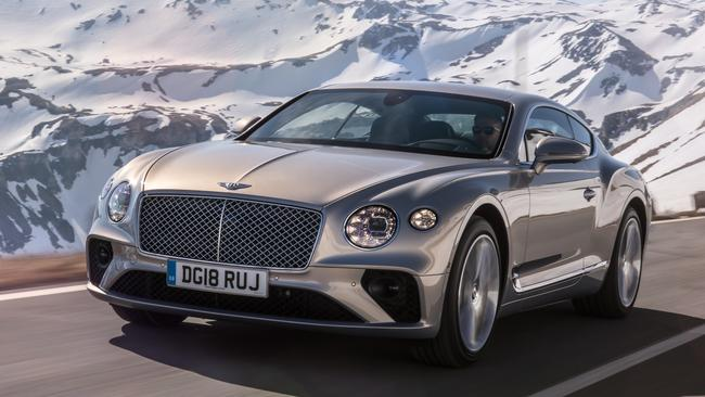 The Bentley Continental GT rides on the same underpinnings as Porsche's Panamera. Picture: Supplied