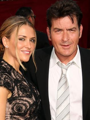 Second wife ... Charlie Sheen (R) and then wife Brooke Mueller in 2009. Picture: Getty