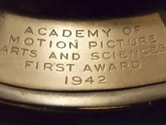The Oscar statue awarded in 1942 to Joseph Wright for his work on My Gal Sal.