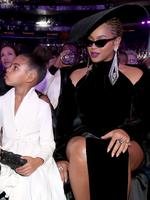 Beyonce and daughter Blue Ivy at the 60th Annual GRAMMY Awards at Madison Square Garden. Picture: Christopher Polk/Getty Images for NARAS