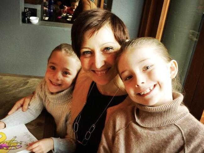 Amanda with her two kids. Picture: Supplied
