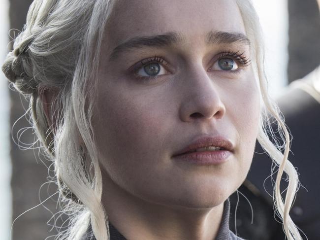 Emilia Clarke as Daenerys in Game of Thrones season 7 episode one