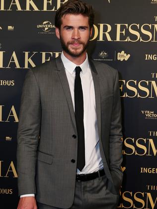 On The Dressmaker red carpet, Liam Hemsworth. Picture: Julie Kiriacoudis