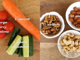 How to eat healthy: Exact amount of nuts, vegetables to snack on