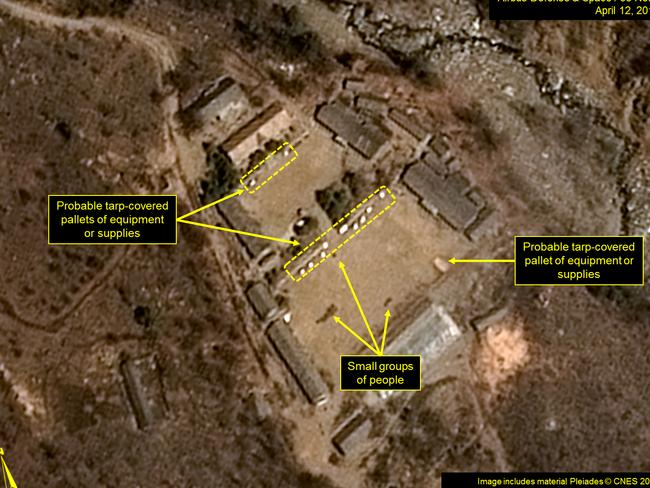 A satellite image taken on April 12, 2017 of North Korea's Punggye-ri Nuclear Test Site. Picture: AFP