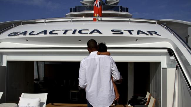 Jay Z and Blue Ivy chill out on a $50 million yacht. Photo: Supplied/Tumblr