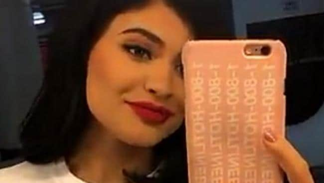 Kylie Jenner showed support for her brother-in-law Kanye West in a Yeezus T-shirt. Picture: Snapchat.