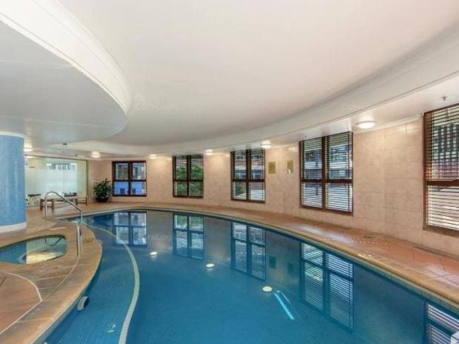 The pool at 35 Howard St, Brisbane. Picture: realestate.com.au.