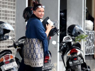 Schapelle Corby at the Parole Board Office for her monthly meeting in Denpasar, Bali. Photo: Lukman S. Bintoro