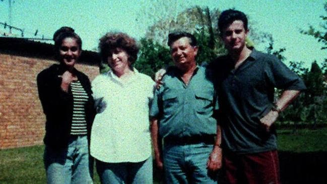 Anu Singh (left) pictured with Joe Cinque and his parents before his death.