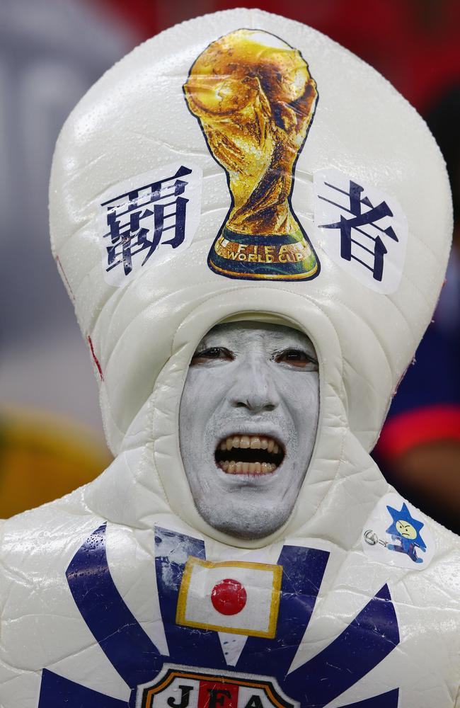A Japan fan shows what the World Cup spirit is about.