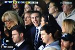 <p>Screen grabs of Megan Gale and boyfriend Shaun Hampson in the crowd at a Carlton Football Club game vs Western Bulldogs on Sunday July 11, 2011. Picture: Dan Himbrechts</p>