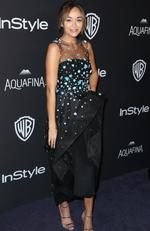 Ashley Madekwe arrives at the InStyle and Warner Bros. Golden Globes afterparty at the Beverly Hilton Hotel on Sunday, Jan. 10, 2016, in Beverly Hills, Calif. (Photo by Matt Sayles/Invision/AP)