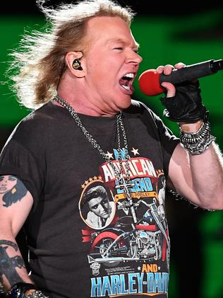 Lead singer Axl Rose can now be on the same stage as guitarist, Slash, after a long-running feud. Picture: AAP