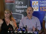 Campbell Newman gives Cyclone Ita update at the Shangri La hotel Cairns