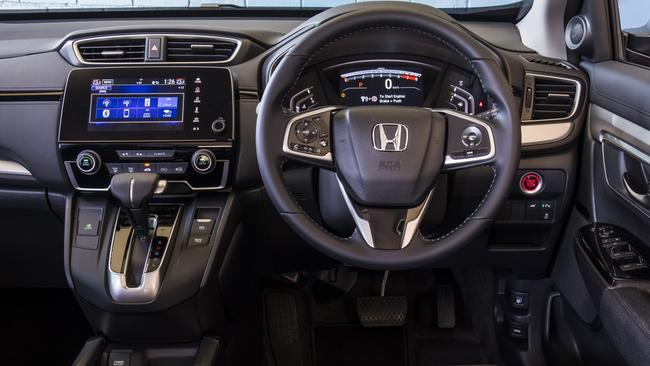A large digital speed display, Apple Car Play, plenty of USB charge points, and a full-size spare tyre are among the Honda's highlights. Picture: Supplied.