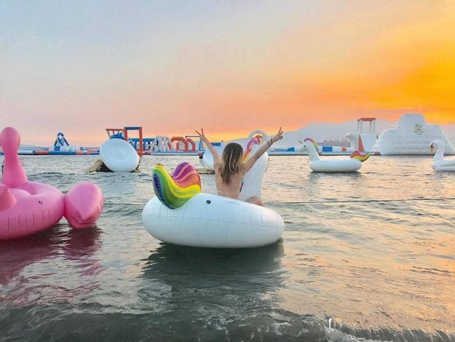 It's called unicorn island for a reason. Picture: Inflatable Island