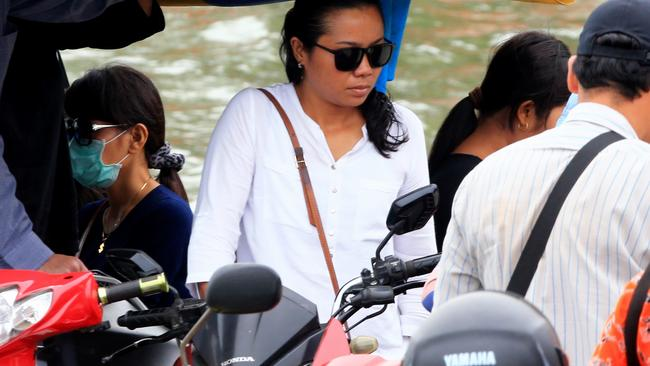 Heartbroken ... Andrew Chan's fiance, Febyanti, after visiting Chan on death row. Picture: Adam Taylor
