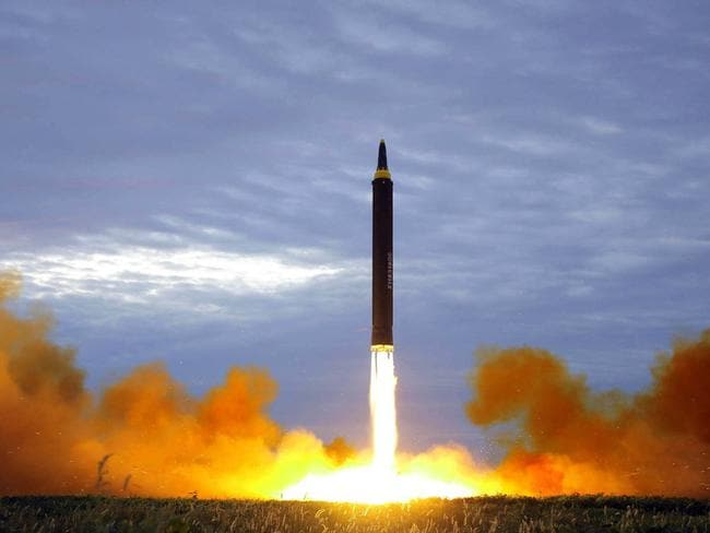 North Korea has angered the world with a series of ballistic missile tests this year. Picture: KCNA/AFP