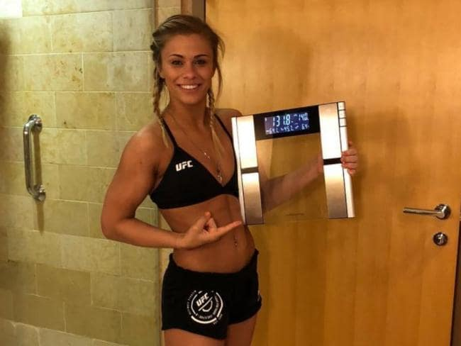 Paige VanZant is happy to be fighting at 125 pounds.