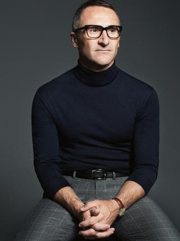 It is fair to say that Greens leader Richard Di Natale, dressed in a black skivvie for this GQ cover, looks like the new hipster member of The Wiggles. Picture: Edward Mulvihill for GQ Australia