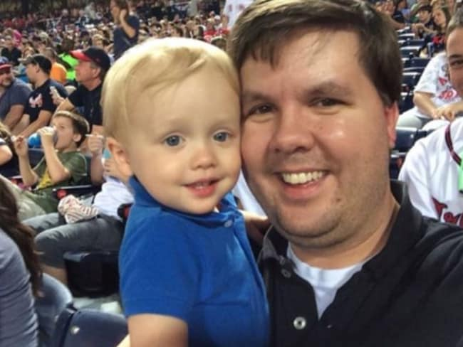 """""""A loving father"""" ... Justin Ross Harris is charged in the murder of his son Cooper."""
