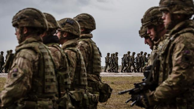 US and Polish troops take part in training drills in Poland this month. Picture: AFP.