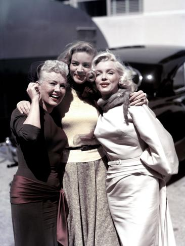Betty Grable, Lauren Bacall and Marilyn Monroe pose for a portrait on the set of the 20th Century-Fox film 'How to Marry a Millionaire' in 1953 in Los Angeles, California. Picture: Getty