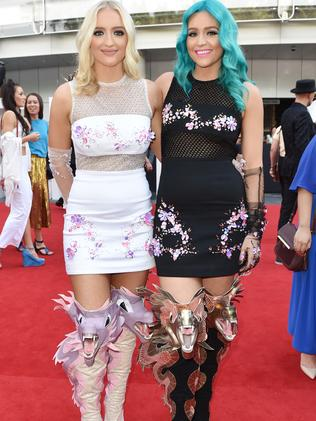 The Sheppard girls wear designer Jamie Lee. Picture: AAP