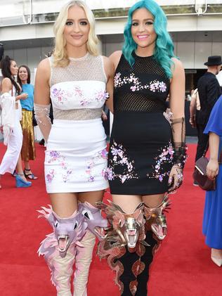 The Sheppard girls wear designer Jamie Lee. Picture: AAP