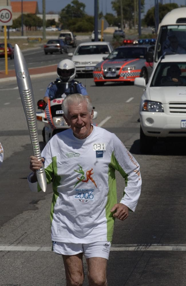 John Gilmour, 95, is a WA running legend. Picture: File image