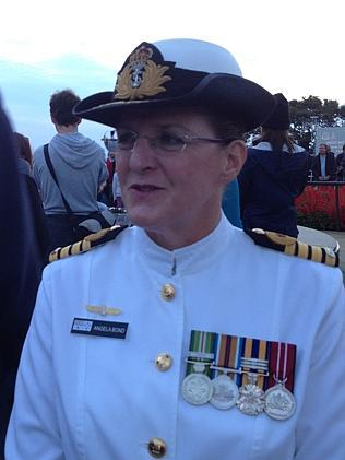 Captain Angela Bond, who gave the Anzac Day dawn service address at the Kings Park State War Memorial.