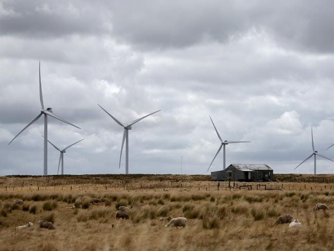 Too successful: A wind farm in Macarthur, western Victoria. Picture: Mcevoy Stuart