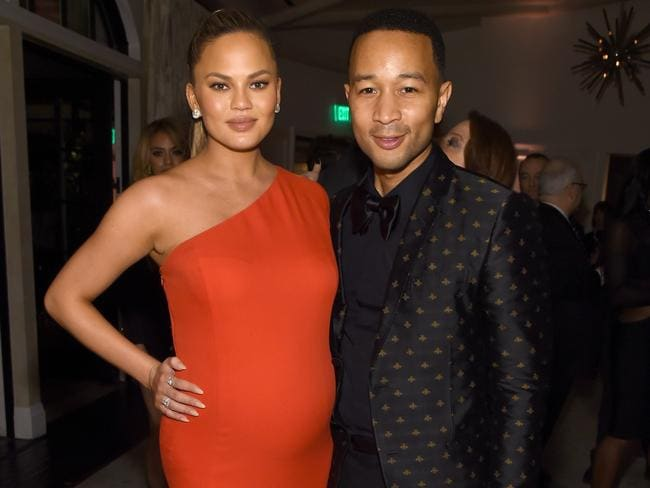 Chrissy Teigen and John Legend looking gorgeous at the Grammy after-party. Picture: Larry Busacca/Getty Images
