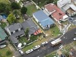 supplied image obtained Wednesday, Dec. 16, 2015 of an aerial shot of the damage caused by severe storm in a street in Kurnell, Southern Sydney, after a severe thunderstorm swept through the city. (AAP Image/Westpac Life Saver Rescue Helicopters) NO ARCHIVING, EDITORIAL USE ONLY