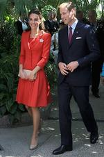 <p>Kate chose red for the couple's Canadian tour in honour of the country's national colour. Photo: Chris Jackson, Getty Images</p>