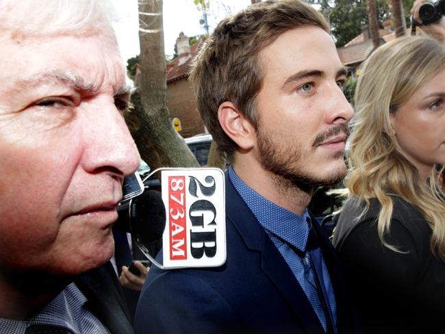 Actor Ryan Corr entering Waverley court with his lawyer Chris Murphy.