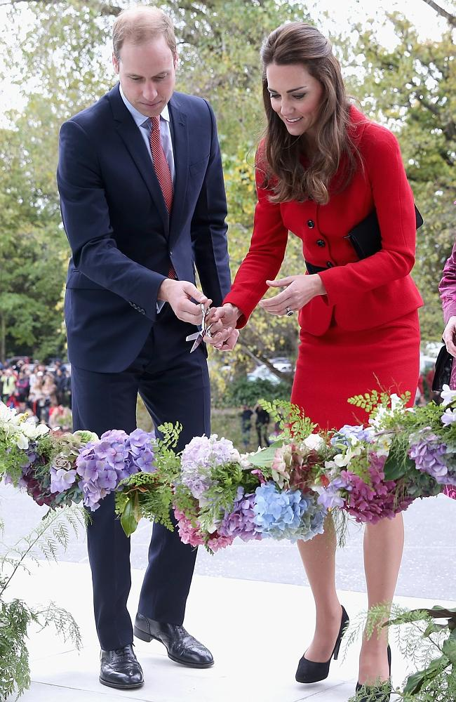Engagement ... Prince William and the Duchess of Cambridge officially open the Visitor's Centre at the Botanical Gardens in Christchurch.