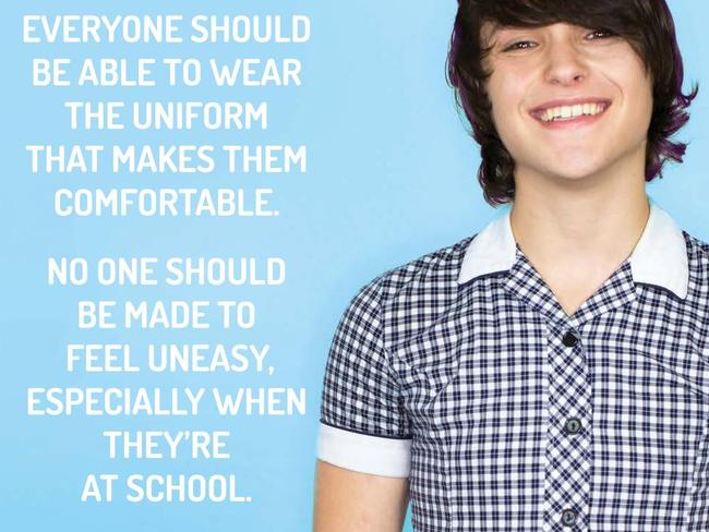 A poster created by LGBTI teen support group Minus18, with support from Safe Schools Coalition Victoria.
