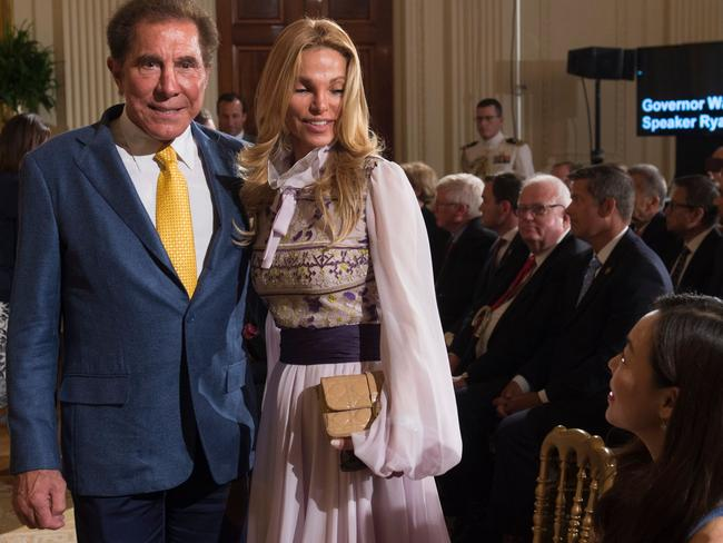 The casino tycoon and wife Andrea at an event in the East Room of the White House in Washington, DC. Picture: Saul Loeb