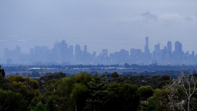 The Melbourne skyline in the morning. Picture: AAP/ Joe Castro