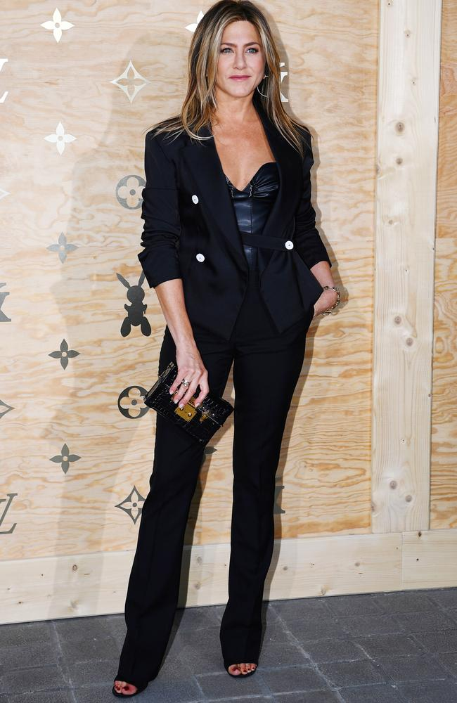 Aniston looks sleek and sophisticated in all-black at the Louis Vuitton event in Paris.