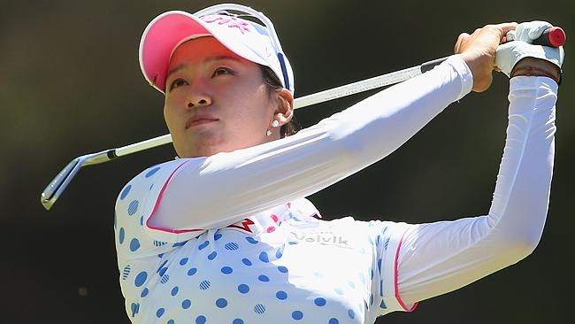 Chella Choi hits an iron but it was her poor form with putter that let her down.