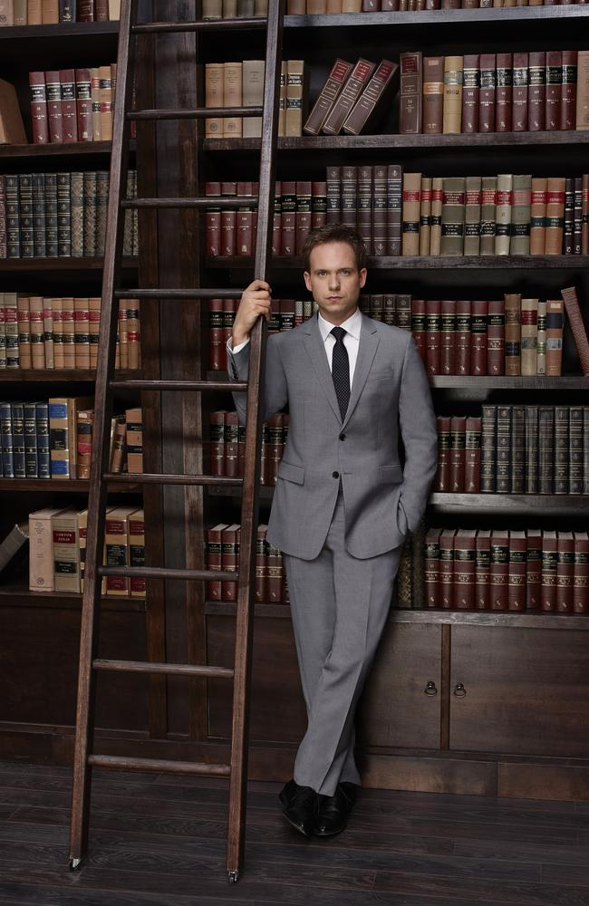 Sharply suited ... The fifth season of Suits sees Adams' character Mike moving up in the law firm.