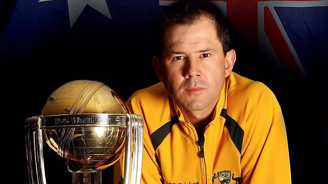 Ricky Ponting with the World Cup