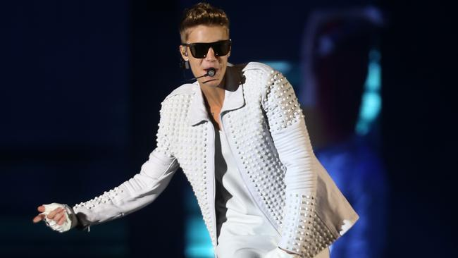 Still packing them in ...Justin Bieber performs at All Phones Arena in Sydney last year.
