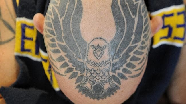 James Clark-Smith is a diehard West Coast Eagle fan. Picture: News Limited.